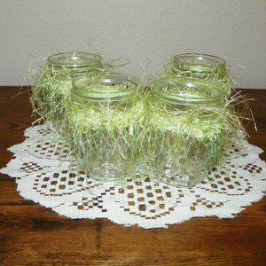 4 Wedding Glass Table Decor Party Favor Green Gift